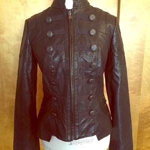 Free people vegan leather military jacket S 6